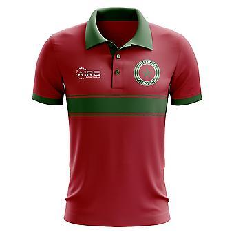 Marokko-Konzept-Streifen-Polo-Shirt (rot)