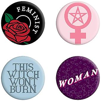 Grindstore This Witch Won`t Burn Feminist Badge Pack