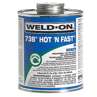Weld-On 738 Hot N Fast PVC Pipe Solvent Cement 237ml