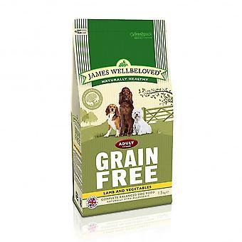 James Wellbeloved adulte Grain agneau gratuit légumes sec 1,5 kg d'aliments pour chiens