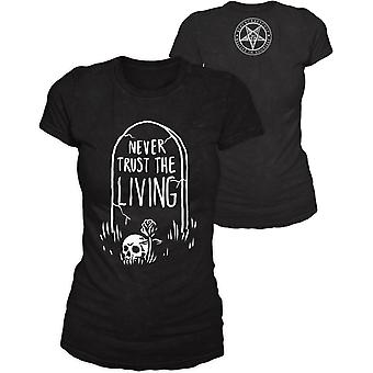 Blackcraft cult - never trust the living - womens t-shirt