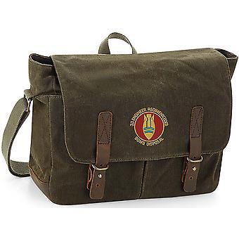 33 Engineer regiment (EOD) bombe bortskaffelse-licenseret British Army broderet voksbehandlet lærred Messenger taske