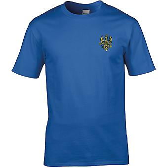 14th 20th Kings Hussars-licenseret British Army broderet Premium T-shirt