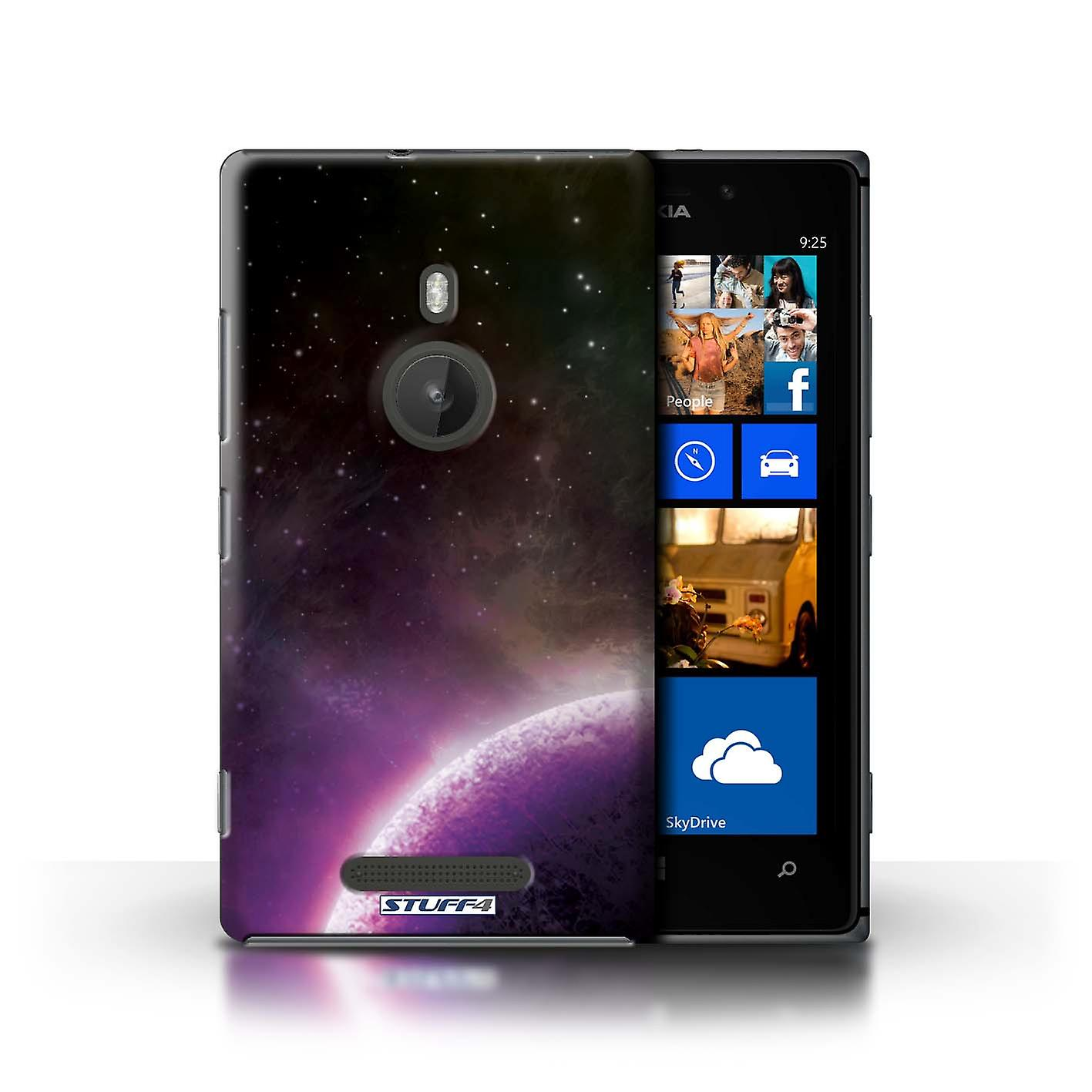 STUFF4 Case/Cover for Nokia Lumia 925/Purple Planet/Space/Cosmos