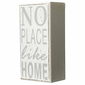 No Place Like Home Wooden Block
