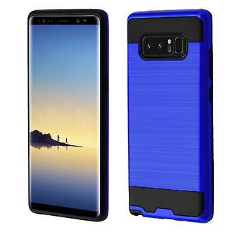 ASMYNA mörkblå/svart borstad hybrid Case för Galaxy Note 8
