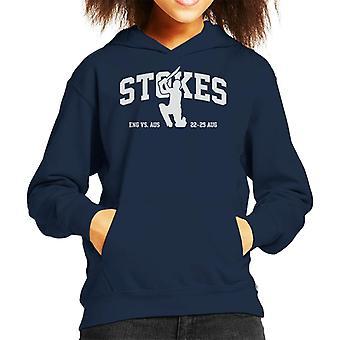 Cricket England Ben Stokes Batting Kid's Hooded Sweatshirt