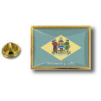 Pine PineS Badge Pin-apos;s Metal With Butterfly Brush Flag USA Delaware