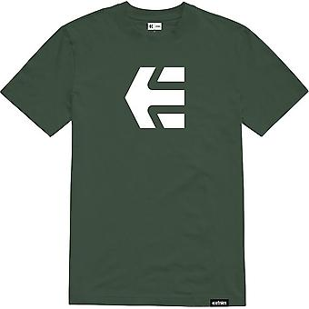 Etnies Icon Short Sleeve T-Shirt in Dark Green