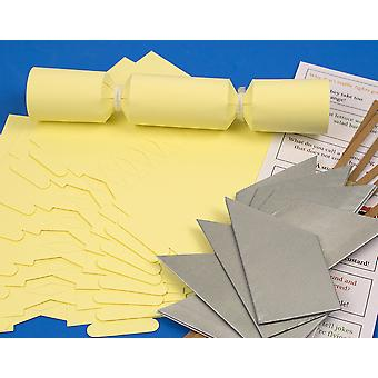 SALE - 8 Small Pale Pastel Yellow Make & Fill Your Own Recyclable Cracker Kit