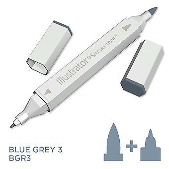 Illustrator van spectrum Noir enkele pen-blauw grijs 3