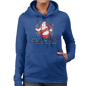 Ghostbusters Drawn Logo Women's Hooded Sweatshirt