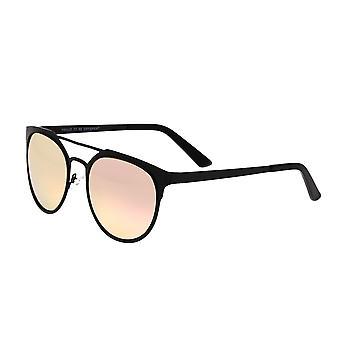 Raça Mensa Titanium polarizada óculos de sol - ouro preto/rosa
