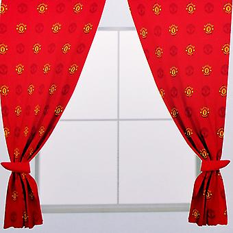 Manchester United FC Repeat Crest Curtains