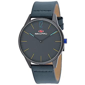 Seapro Men's Agujero negro reloj de marcado negro - SP0103