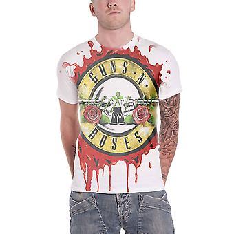Guns N Roses T Shirt classic band logo all over official Mens slim fit sub dye