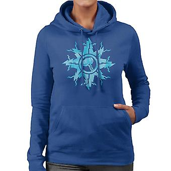 Marvel Christmas Thor Hammer In Snowflake Women's Hooded Sweatshirt