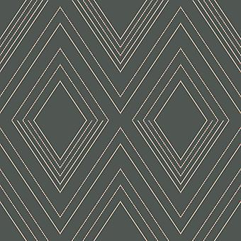 Alea geometrische behang houtskool/Rose Gold Muriva 703042