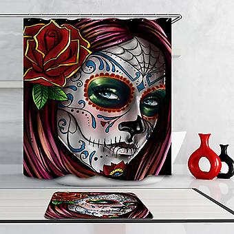 Gorgeous Skull Face Lady Shower Curtain
