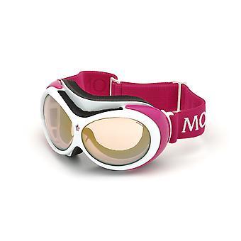 Moncler ML 0130 21U White/Bordeaux Mirror Sunglasses