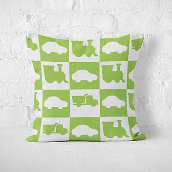 Meesoz Cushion Cover - Outline Cars Green
