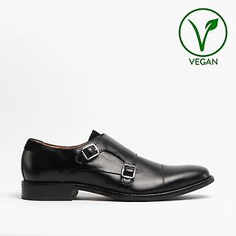Mister Carlo Liam Mens Monk Strap Shoes Black
