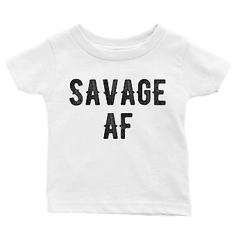 365 tulostaminen Savage AF vauva graafinen T-paita lahja valkoinen vauva tyttö syntymä päivä tee