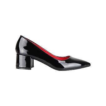 Women Ladies Low Block Heel Pointed Court Shoes Patent Work Office Pumps Party