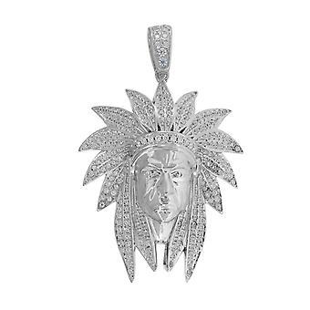 925スターリングシルバーメンズラウンドCZキュービックジルコニアシミュレートダイヤモンドクラスターインドファッションチャームペンダントネックレスジュエリー