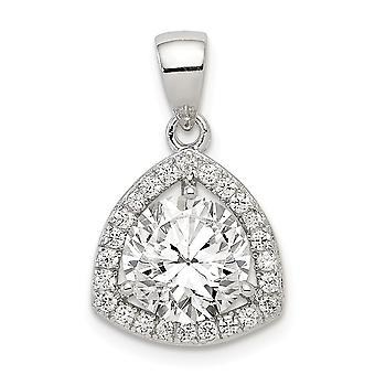 925 στερλίνα ασημένια γυαλισμένα CZ κυβικά Zirconia προσομοιωμένα δώρα κοσμήματος περιδεραίων κρεμαστών κοσμημάτων διαμαντιών για τις γυναίκες