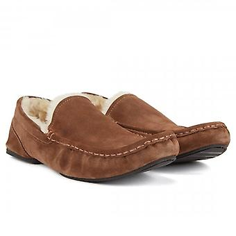 Hugo Boss Boss Relax_Mocc_sdf Moccasin Suede Slipper Brown 50402345