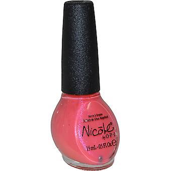 Nicole av OPI Nail Lacquer 15ml stor sinnen rosa både
