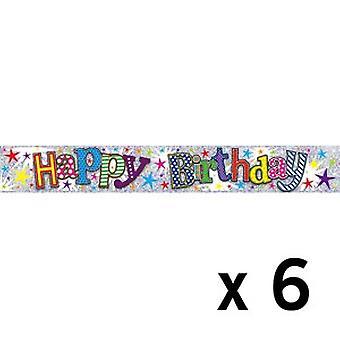 Simon Elvin Adult Birthday Foil Banner (6 Pack)