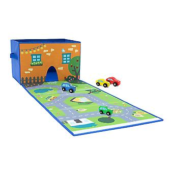 Achoka Play & Store 2 in 1 City Playmat and Storage Box