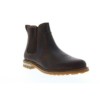 Clarks Foxwell Top  Mens Brown Leather Slip On Chelsea Boots