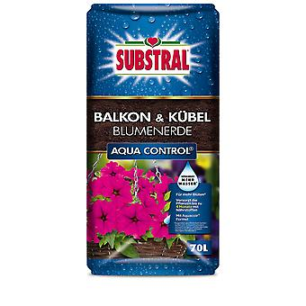 SUBSTRAL® Balcony & Bucket-flower-earth Aqua Control, 70 litres