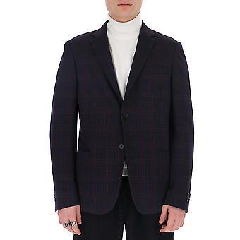 Z Zegna 7777371dnmg08r Men's Blue Cotton Blazer