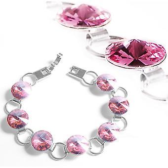 Armband met roze Swarovski kristallen BMB 1.1