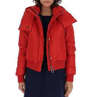 Off-white Owea174e19a390692020 Women's Red Polyester Outerwear Jacket