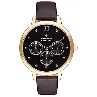Charlotte Rafaelli CRB016 horloge - watch armband leer zwart vrouw Basics