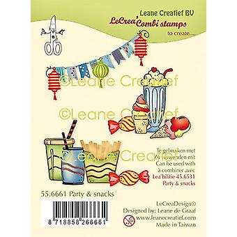 Leane Creatief Party & Snacks Clear Stamps