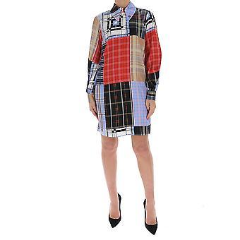 Ganni F4295681 Women's Multicolor Cotton Dress
