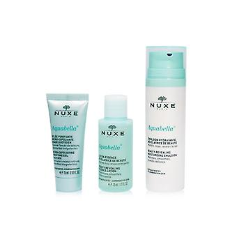 Nuxe Aquabella Hydration Set (for Combination Skin): Purifying Gel 15ml + Essence-lotion 35ml + Moisturising Emulsion 50ml - 3pcs+1bag