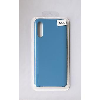 Silicone Cover Case for Samsung A50 Blue