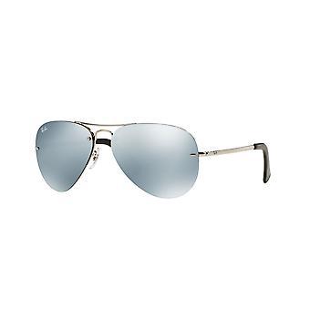 Ray-Ban RB3449 003/30 Srebrne/Zielone Lustro Srebrne Okulary przeciwsłoneczne