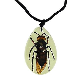The Olivia Collection Glow in the Dark Large Bug Necklace with REAL Wasp