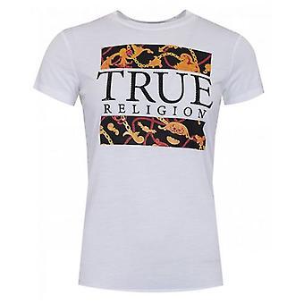 True Religion Crystal Chain Logo T-Shirt