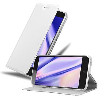 Cadorabo fodral för ZTE Blade V7 falllock - mobiltelefonfodral med magnetiskt lås, ståfunktion och kortfack – Case Cover Protective Case Book Folding Style