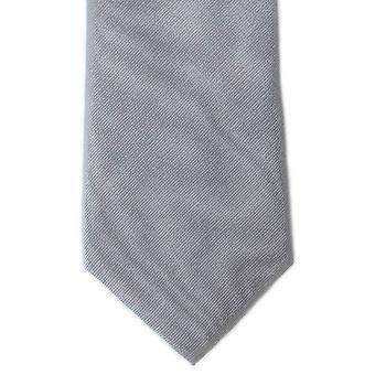 Michelsons of London Plain Twill Silk Tie - Grey