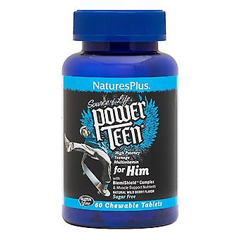 Nature's Plus Power Teen For Him Chewable Tabs 60 (30002)